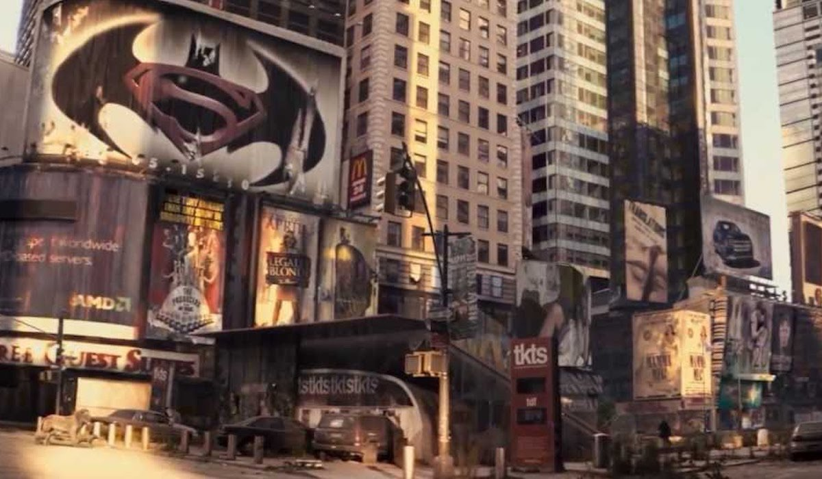 Batman vs Superman poster in I Am Legend