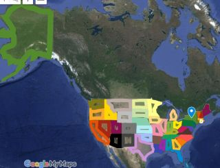 Google map of North America