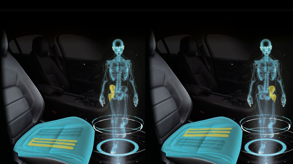 Jaguar's shape-shifting car seat tricks your lazy brain into thinking you're walking