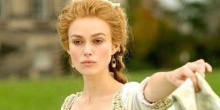 Keira Knightley in a corset in The Duchess screenshot