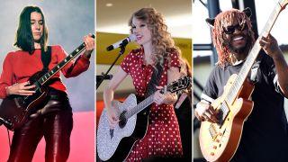 [L-R] Danielle Haim, Taylor Swift and Thundercat