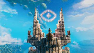 Valheim LOTR tower screenshot.