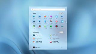 Windows 11 Start Menu - Full menu