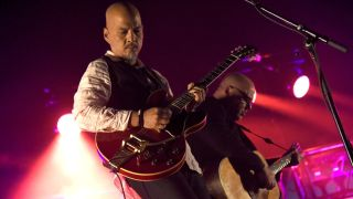 """Joey Santiago (L) and Black Francis of Pixies perform in support of the band's """"Head Carrier"""" release at Saenger Theatre on May 3, 2017 in New Orleans, Louisiana."""
