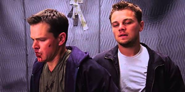 Matt Damon and Leonardo DiCaprio in The Departed