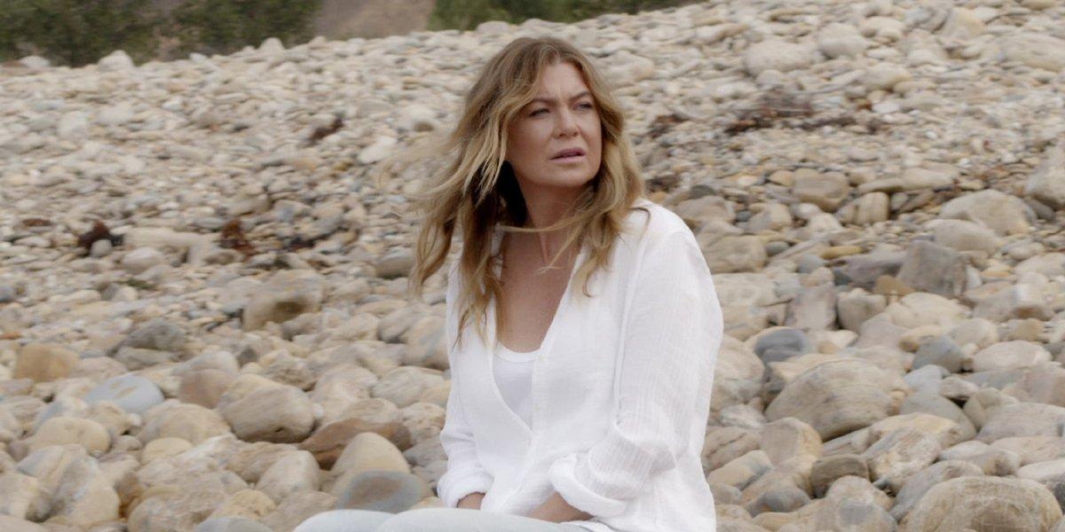 Grey's Anatomy Meredith on the beach