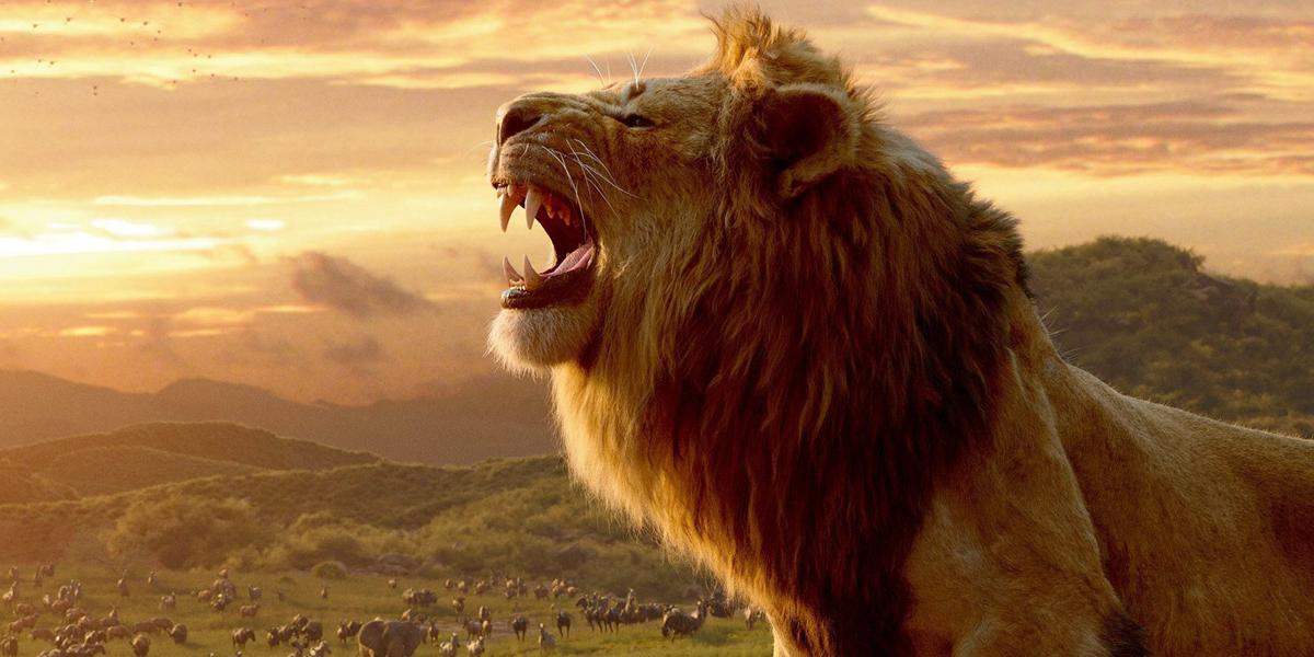 The Lion King Mufasa roars