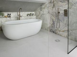polished concrete bathroom flooring ideas