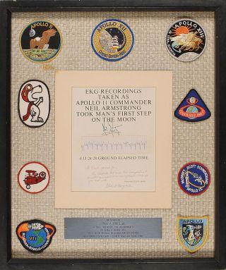 Neil Armstrong's Original Electrocardiogram