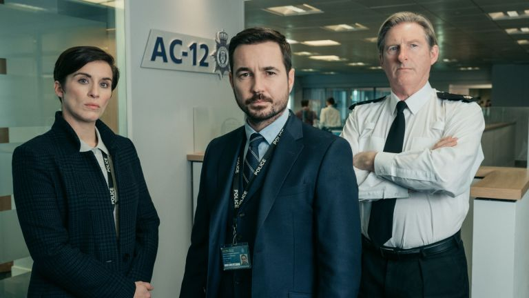 Vicky McClure, Martin Compston and Adrian Dunbar in BBC's Line of Duty