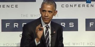 President Barack Obama spoke at the White House Frontiers Conference on Oct. 13