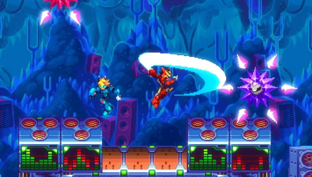Watch a new trailer for 30XX, a Mega Man-inspired roguelike platformer