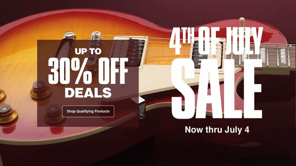 can t wait until amazon prime day for a great guitar deal guitar center s july 4th sale has. Black Bedroom Furniture Sets. Home Design Ideas
