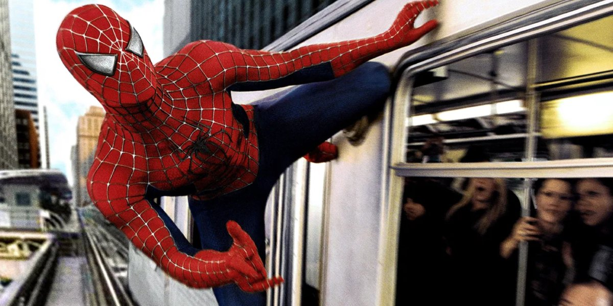Tobey Maguire as Spider-Man in the Oscar-winning Spider-Man 2