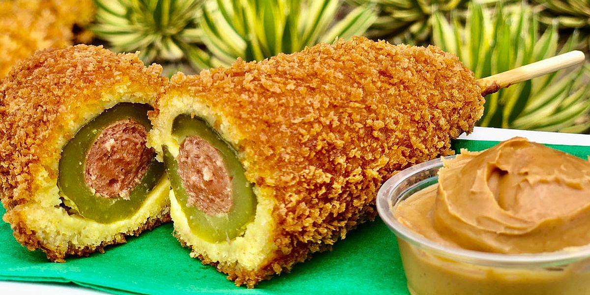 Disneyland's pickle corn dog