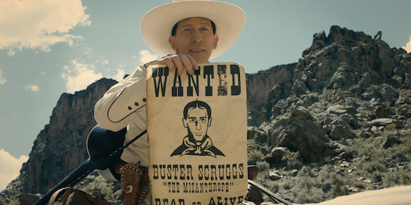 The ballad of Buster Scruggs cowboy with wanted poster