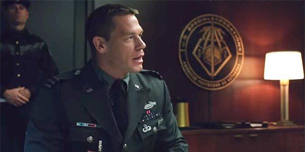 John Cena in the Bumblebee trailer screenshot