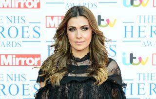 Kym Marsh, wearing black, attending the NHS Heroes Awards