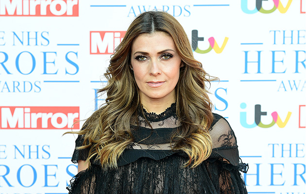 Kym Marsh, wearing black, attending the NHS Heroes Awards