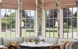 hardwood timber windows in a traditional bay window