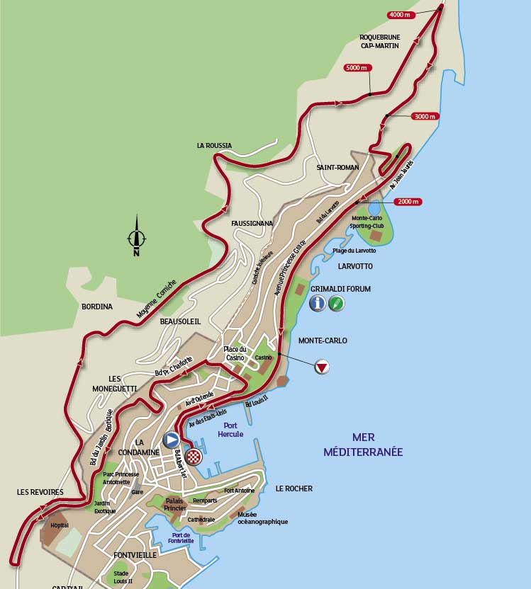 Tour de France 2009 stage 1 map