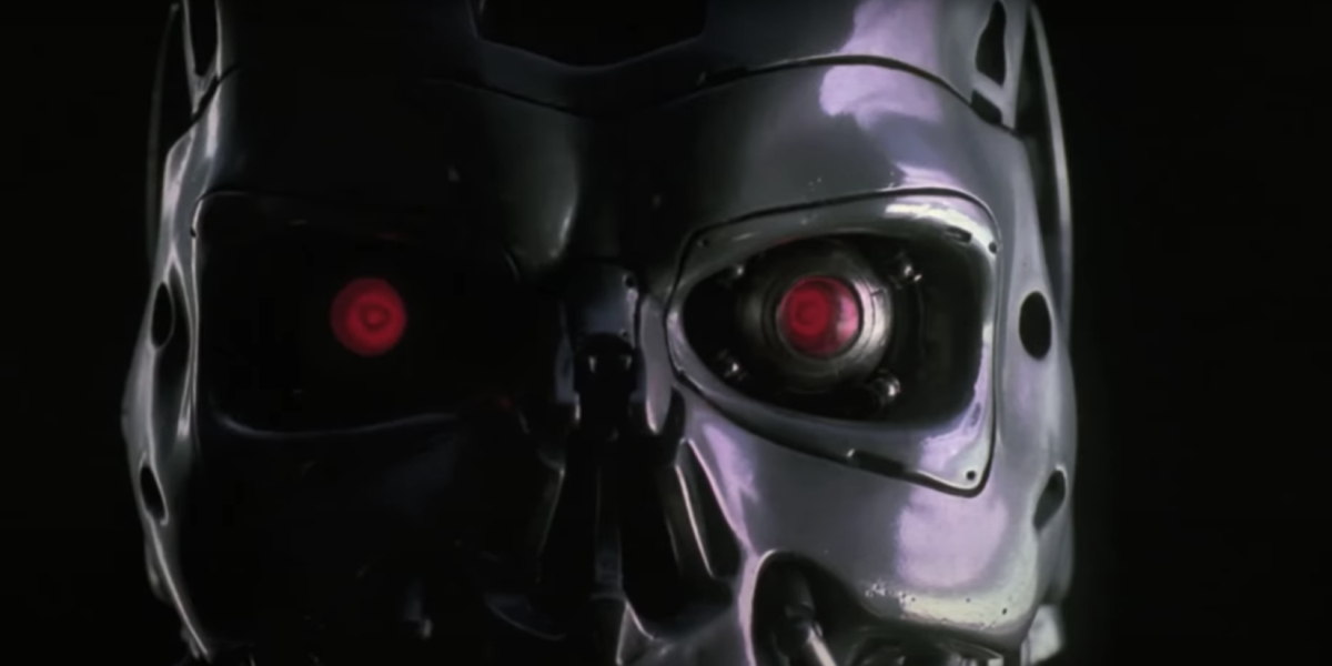 A shot from the Terminator 2 1990 teaser
