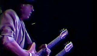 Stevie Ray Vaughan performs with Carlos Santana, Jimmie Vaughan, Cesar Rosas and more in 1988.