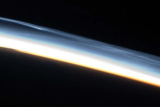 Astronauts Photograph Rare High-Altitude Clouds