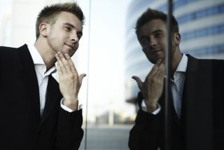 Vain man. Narcissism appears to stress men physically, a new study shows.