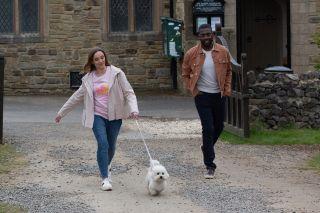 Who puts Andrea's dog Princess in danger in Emmerdale