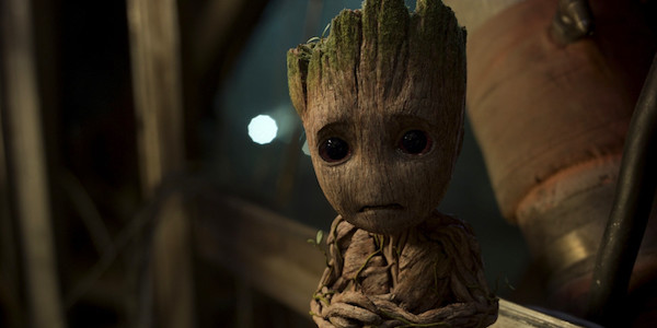 Groot crying in Guardins 2