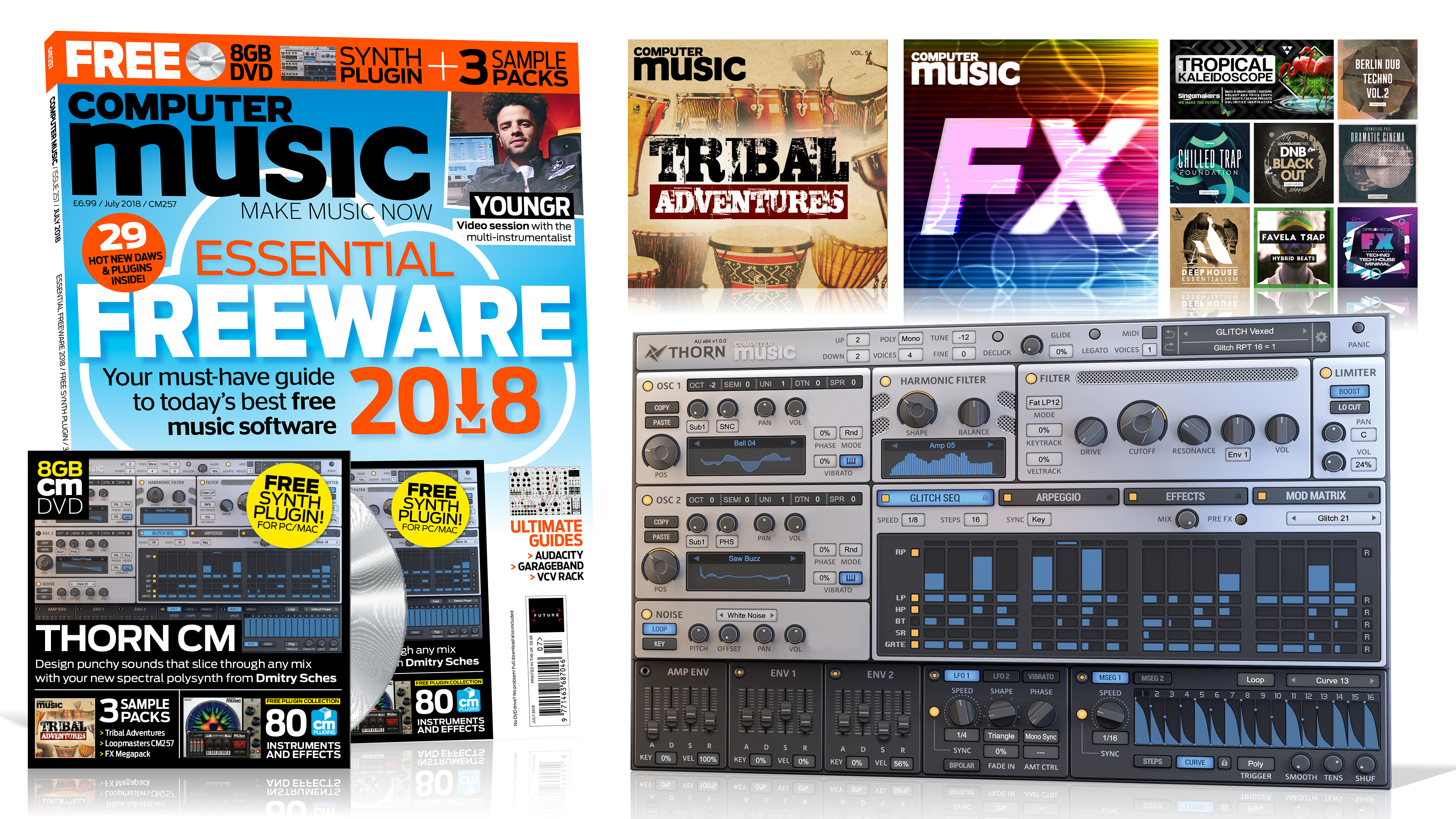 ESSENTIAL FREEWARE 2018 – Computer Music issue 257 is out