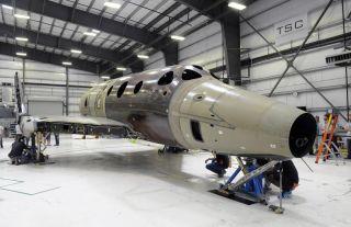 SpaceShipTwo First Landing Gear Lowering