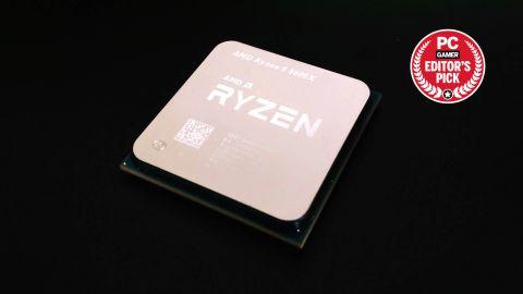 AMD Ryzen 5 5600X chip on dark background