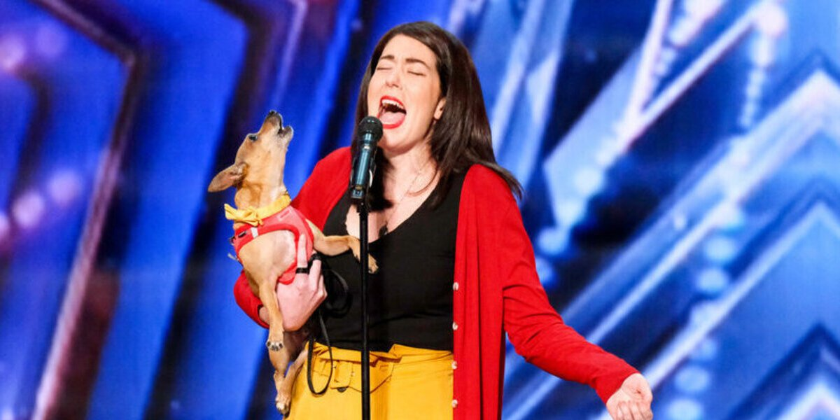 americas got talent season 16 pam and casper singing dog all by myself nbc