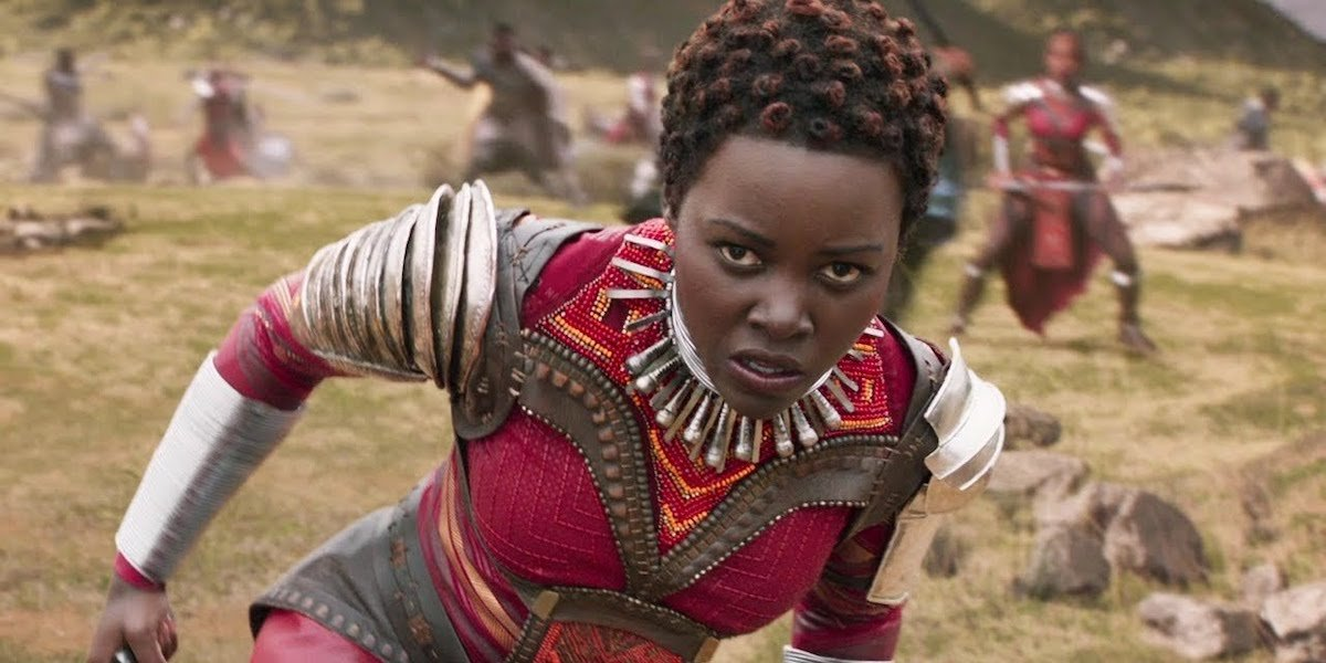 Nakia in Black Panther's final battle