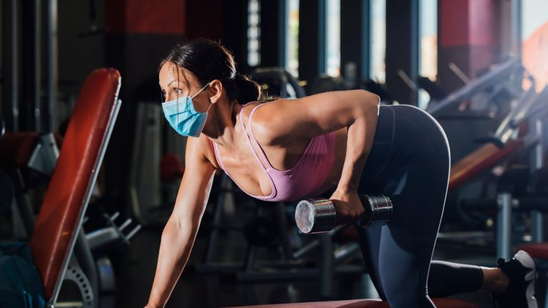 Woman exercising in gyms