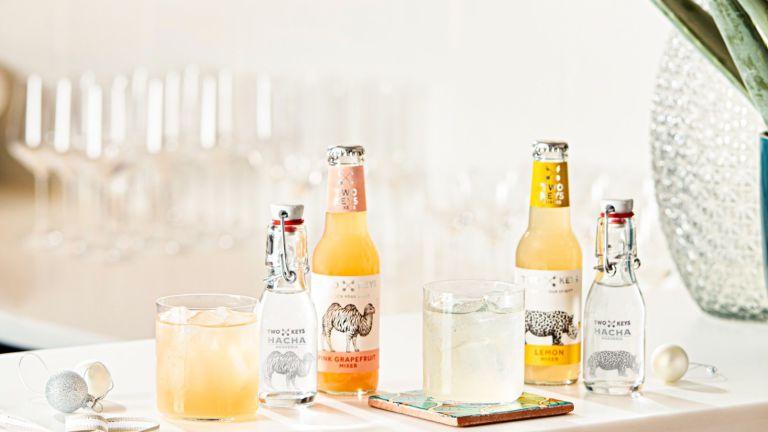 Cocktails and bottles