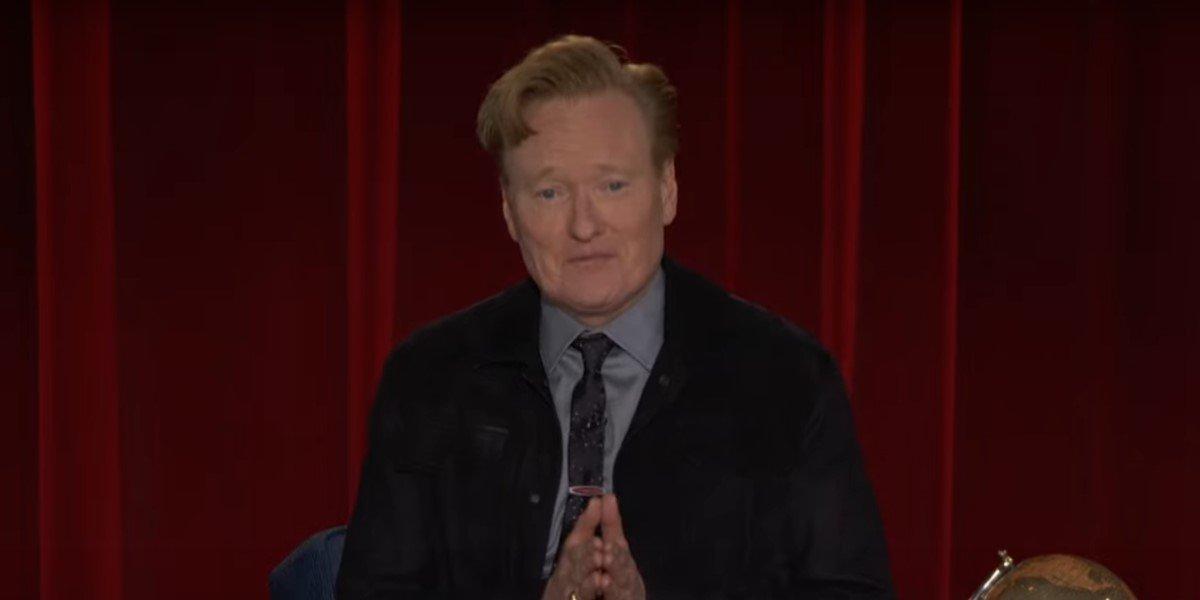 conan o'brien giving thanks on final episode of TBS' conan