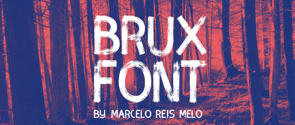 Free graffiti fonts: Brux