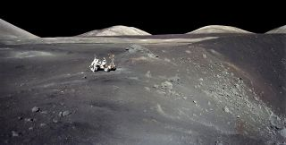 Apollo astronauts on the moon
