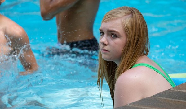 Eighth Grade Elsie Fisher in the pool