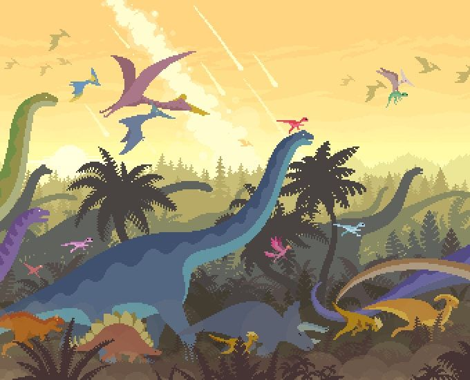 Dino Run 2 is a procedurally generated 2D runner with plenty of dinosaurs