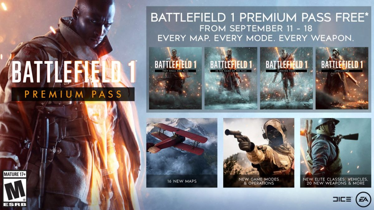 The Battlefield 1 Premium Pass will be free for a week after the