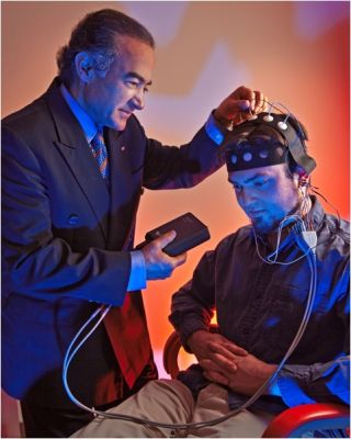 Rahmat A. Shoureshi is working on a prosthesis that uses combined imagine techniques to read stimuli from the brain.