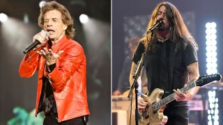 [L-R] Mick Jagger and Dave Grohl