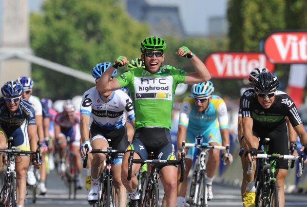 Mark Cavendish wins, Tour de France 2011, stage 21