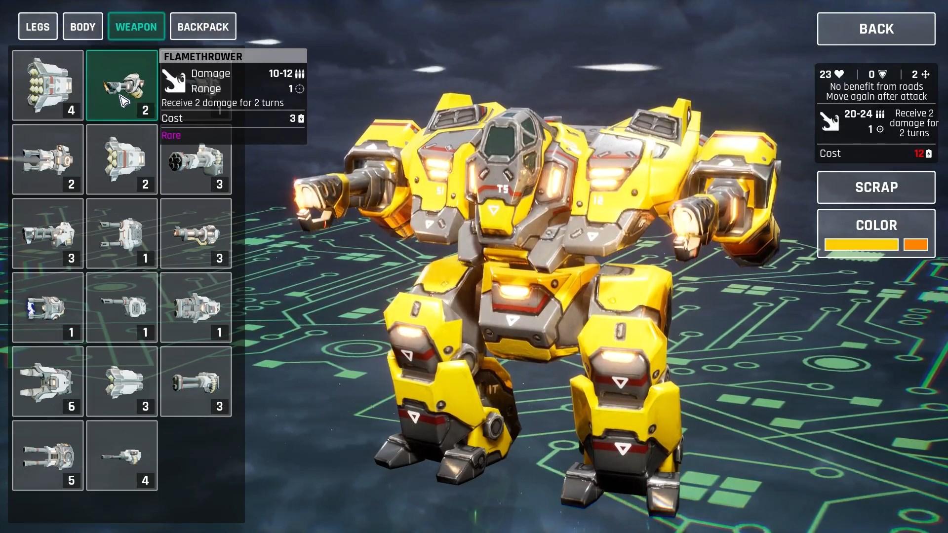 Do some tactical mech vs kaiju battles in Mech Armada