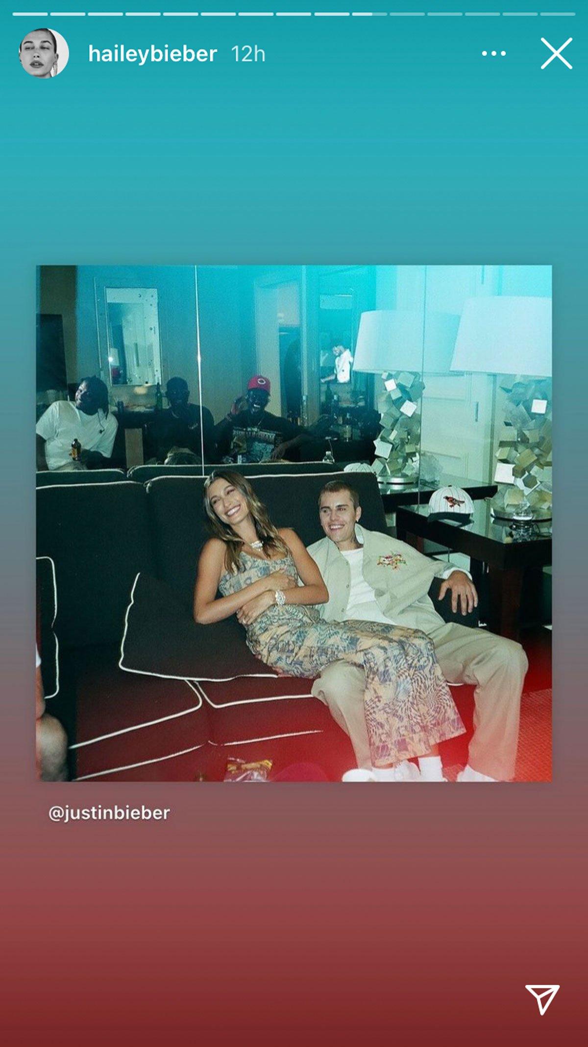 Hailey Bieber Instagram Stories post