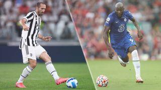 Giorgio Chiellini of Juventus and Romelu Lukaku of Chelsea
